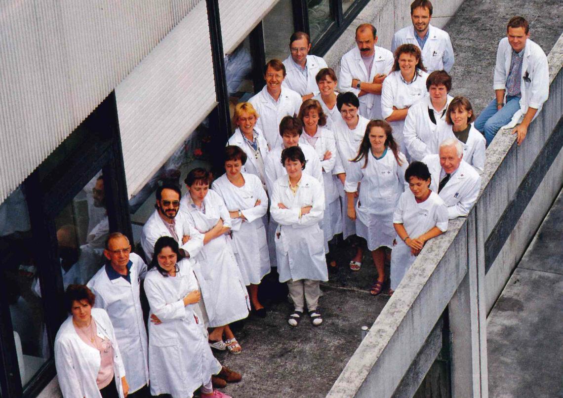 Collega's van het labo biochemie (1992)
