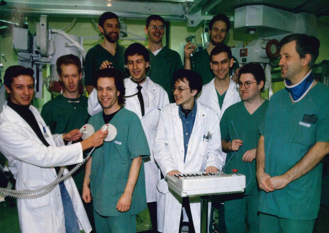 Cardiologisch team van het kathlab (1994)